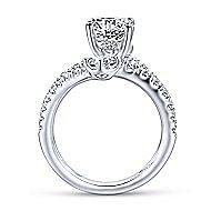Mosaic 18k White Gold Round Split Shank Engagement Ring angle 2