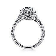 Mykonos 18k White Gold Round Halo Engagement Ring angle 2