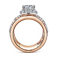 Napa 18k White And Rose Gold Round Halo Engagement Ring angle 2