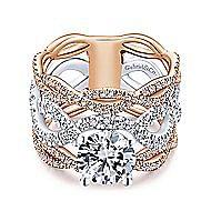 Natasha 18k White And Rose Gold Round Twisted Engagement Ring angle 1