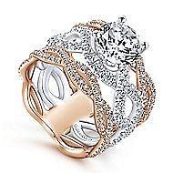 Natasha 18k White And Rose Gold Round Twisted Engagement Ring angle 3