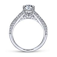 Nila 14k White Gold Pear Shape Split Shank Engagement Ring angle 2