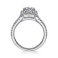 Nina 14k White Gold Round Halo Engagement Ring angle 2