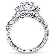 Nolita 14k White Gold Round Halo Engagement Ring angle 2