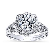 Nolita 14k White Gold Round Halo Engagement Ring angle 5
