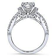 Nori 14k White Gold Round Twisted Engagement Ring angle 2
