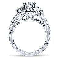 Nymphea 14k White Gold Round Double Halo Engagement Ring angle 2