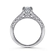 Octavia 14k White Gold Oval Straight Engagement Ring