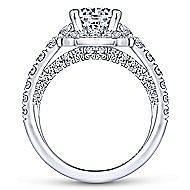 Otis 18k White Gold Round Halo Engagement Ring angle 2