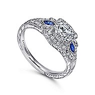 PLT Sapphire&Diamond Eng.Ring