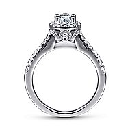 Paige 14k White Gold Pear Shape Halo Engagement Ring angle 2