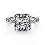 Patience Platinum Princess Cut Halo Engagement Ring angle 1