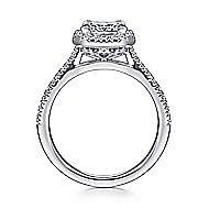 Patience Platinum Princess Cut Halo Engagement Ring angle 2