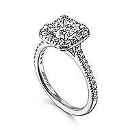 Patience Platinum Princess Cut Halo Engagement Ring angle 3