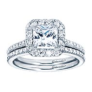 Patience Platinum Princess Cut Halo Engagement Ring angle 4