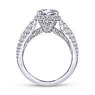 Pauline 18k White Gold Round Straight Engagement Ring angle 2