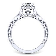 Penelope 14k White Gold Cushion Cut Solitaire Engagement Ring angle 2