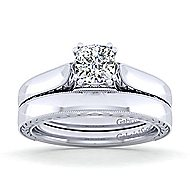 Penelope 14k White Gold Cushion Cut Solitaire Engagement Ring angle 4