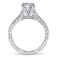 Penelope 14k White Gold Round Solitaire Engagement Ring angle 2