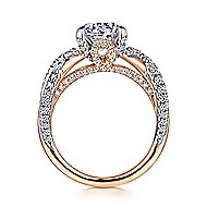 Peppa 18k White And Rose Gold Round Twisted Engagement Ring angle 2