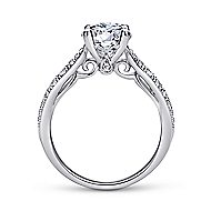 Peregrine 18k White Gold Round Straight Engagement Ring angle 2