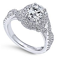 Pippa 14k White Gold Oval Double Halo Engagement Ring