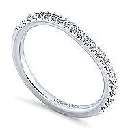 Platinum Contemporary Curved Wedding Band angle 3