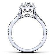 Platinum Cushion Cut Halo Engagement Ring angle 2