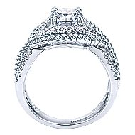 Platinum Round Free Form Engagement Ring angle 2