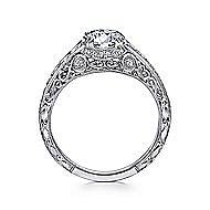 Platinum Round Straight Engagement Ring angle 2