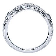 Platinum Victorian Curved Wedding Band angle 2