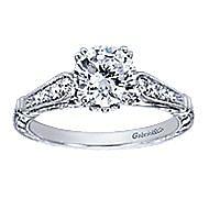 Posh Platinum Round Straight Engagement Ring angle 5