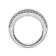Prong Fancy Diamond Ring in 14K White Gold
