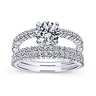Ravenna 14k White Gold Round Split Shank Engagement Ring angle 4