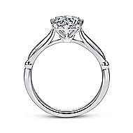 Regalia 18k White Gold Round Solitaire Engagement Ring angle 2