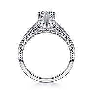 Remy 14k White Gold Pear Shape Split Shank Engagement Ring angle 2