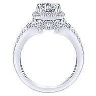Rhea 14k White Gold Round Halo Engagement Ring angle 2