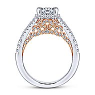 Rochelle 14k White And Rose Gold Round Split Shank Engagement Ring angle 2