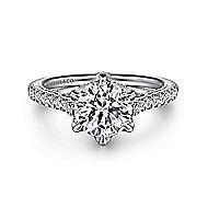 Rocio 18k White Gold Round Straight Engagement Ring angle 1