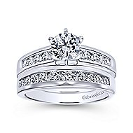 Rooney 14k White Gold Round Straight Engagement Ring angle 4