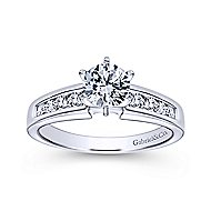Rooney 14k White Gold Round Straight Engagement Ring angle 5