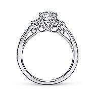 Rory 14k White Gold Round 3 Stones Engagement Ring angle 2