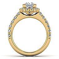 Rosalyn 14k Yellow Gold Princess Cut Halo Engagement Ring angle 2