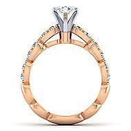 Rowan 14k White And Rose Gold Marquise  Straight Engagement Ring angle 2