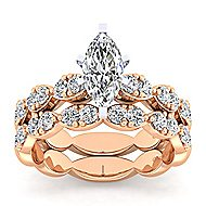 Rowan 14k White And Rose Gold Marquise  Straight Engagement Ring angle 4