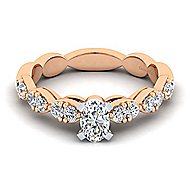 Rowan 14k White And Rose Gold Oval Straight Engagement Ring angle 1
