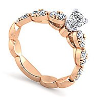 Rowan 14k White And Rose Gold Oval Straight Engagement Ring angle 3