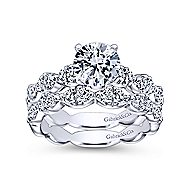 Rowan 14k White Gold Round Straight Engagement Ring angle 4