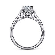 Sable 18k White Gold Round Halo Engagement Ring