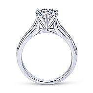 Samira 14k White Gold Round Straight Engagement Ring angle 2